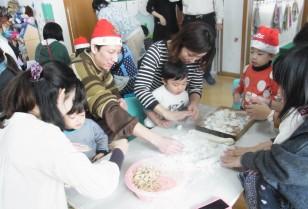 餃子を包み「コンコルディア託児所」広州市天河区