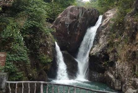 中国一の落差の滝