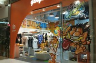 香港TシャツブランドGingerとコラボ「Garfield」チムサーチョイ(尖沙咀)