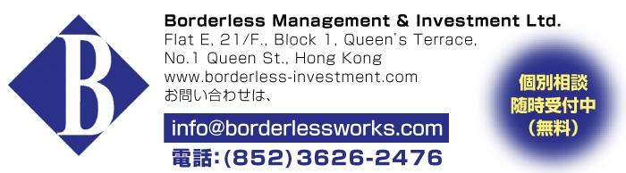 BORDERLESS MANAGEMENT & INVESTMENT