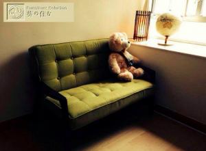 レトロ調のソファ