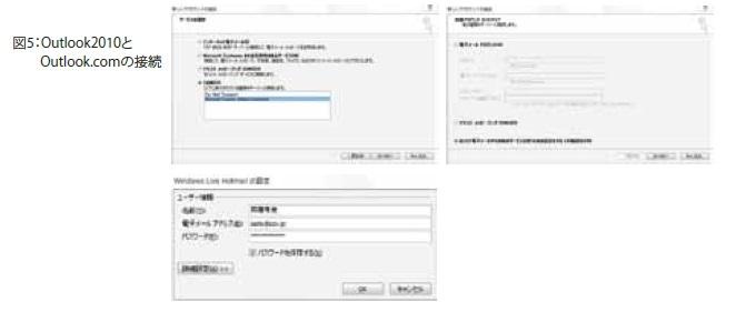 Outlook2010とOutlook.comの接続