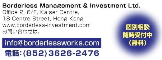 BORDERLESS MANAGEMENT & INVESTMENT LTD
