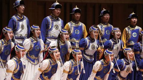 内モンゴル青少年合唱団コンサート