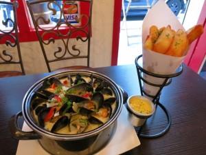 おすすめのムール貝とポテト・フライ