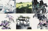 中国当代画院院長作品展「八面来風 万千意象」深セン市