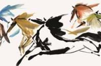 中国人現代画家「Yuanming He」香港絵画展