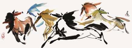 天を駆ける馬の絵画2