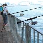 のんびりと釣りを楽しむ地元民