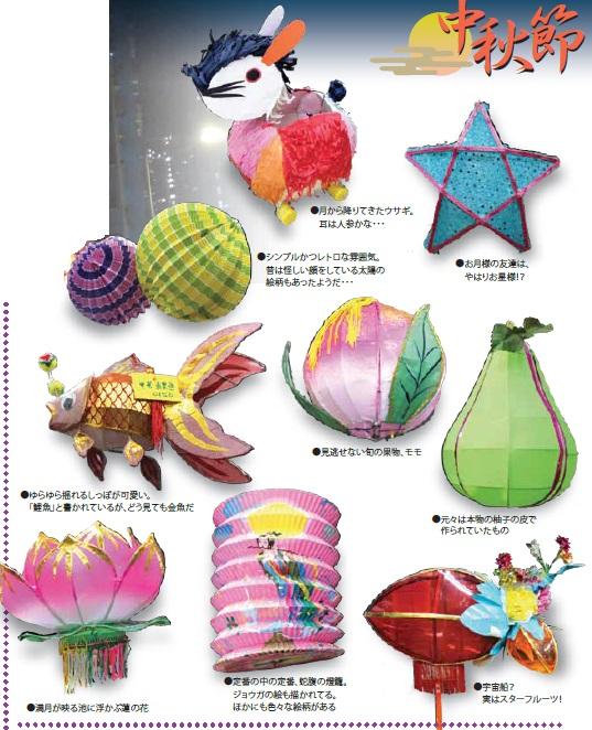 色々な種類の燈籠
