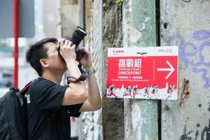 香港で写真撮影