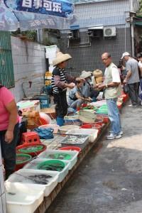 蛇口市場では漁民が直接販売しています