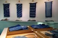 無印良品による「天然藍染テーマの展示会」ハーバーシティで開催