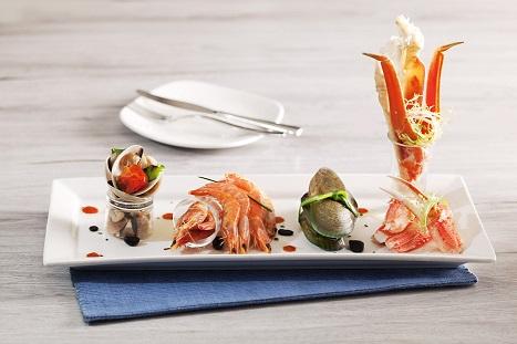 豪華な海鮮料理