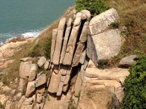 奇形岩の数々