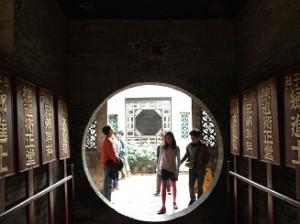 円形の通路