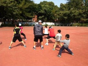 佐藤文平×片山翔プロテニスクリニック トレーニング