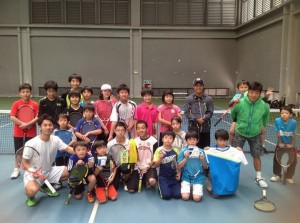 佐藤文平×片山翔プロテニスクリニックの生徒