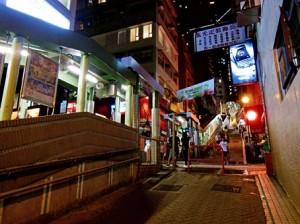 SOHOの夜の街並み