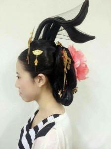 唐時代の貴族たちの髪型3