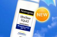 ニュートロジーナより新日焼け止めNeutrogena Ultra Sheer登場