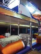 寝台バスの車内