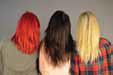 様々なカラーの後ろ髪
