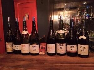 豊富なワインとシャンパン