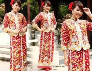 広東伝統の花嫁衣装2