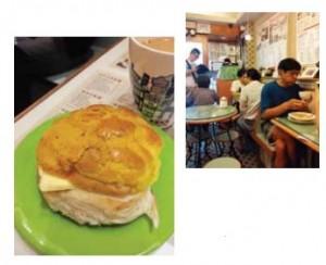 菠蘿包(パイナップルパン)とミルクティー