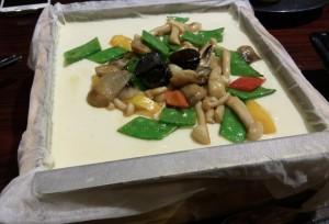 黒蒜野菌豆腐