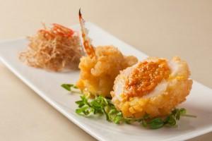 上海蟹を使ったメニュー