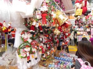 クリスマスグッズ店