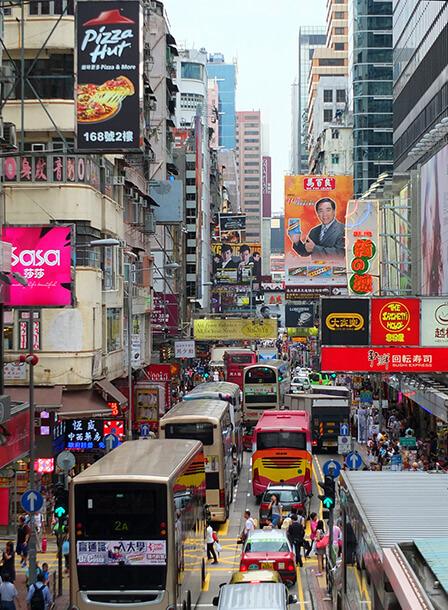 オフィスは香港の中心地