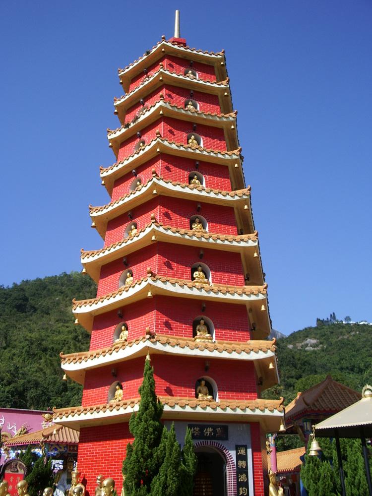 萬佛寺の塔