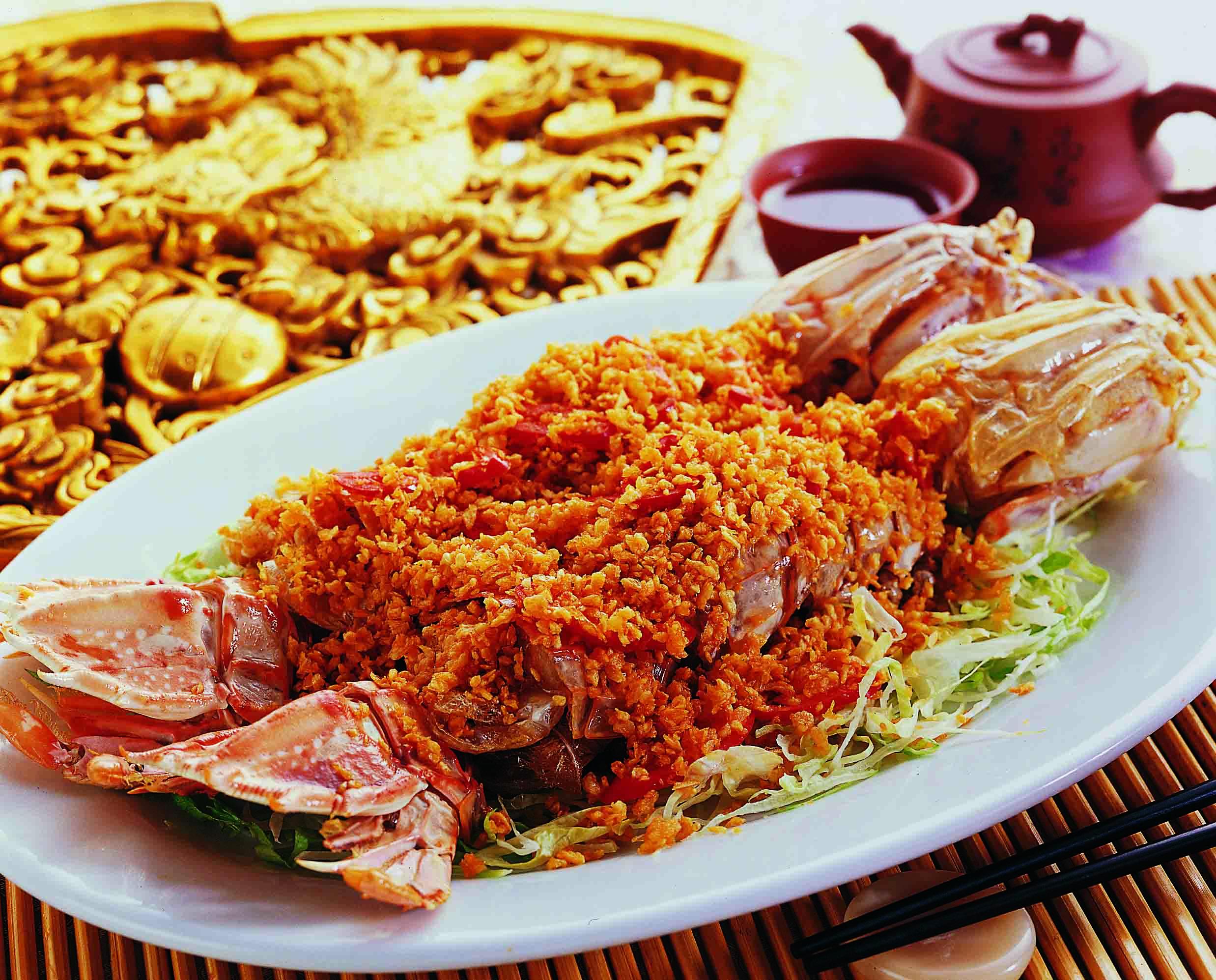 竹園海鮮飯店のエビ料理