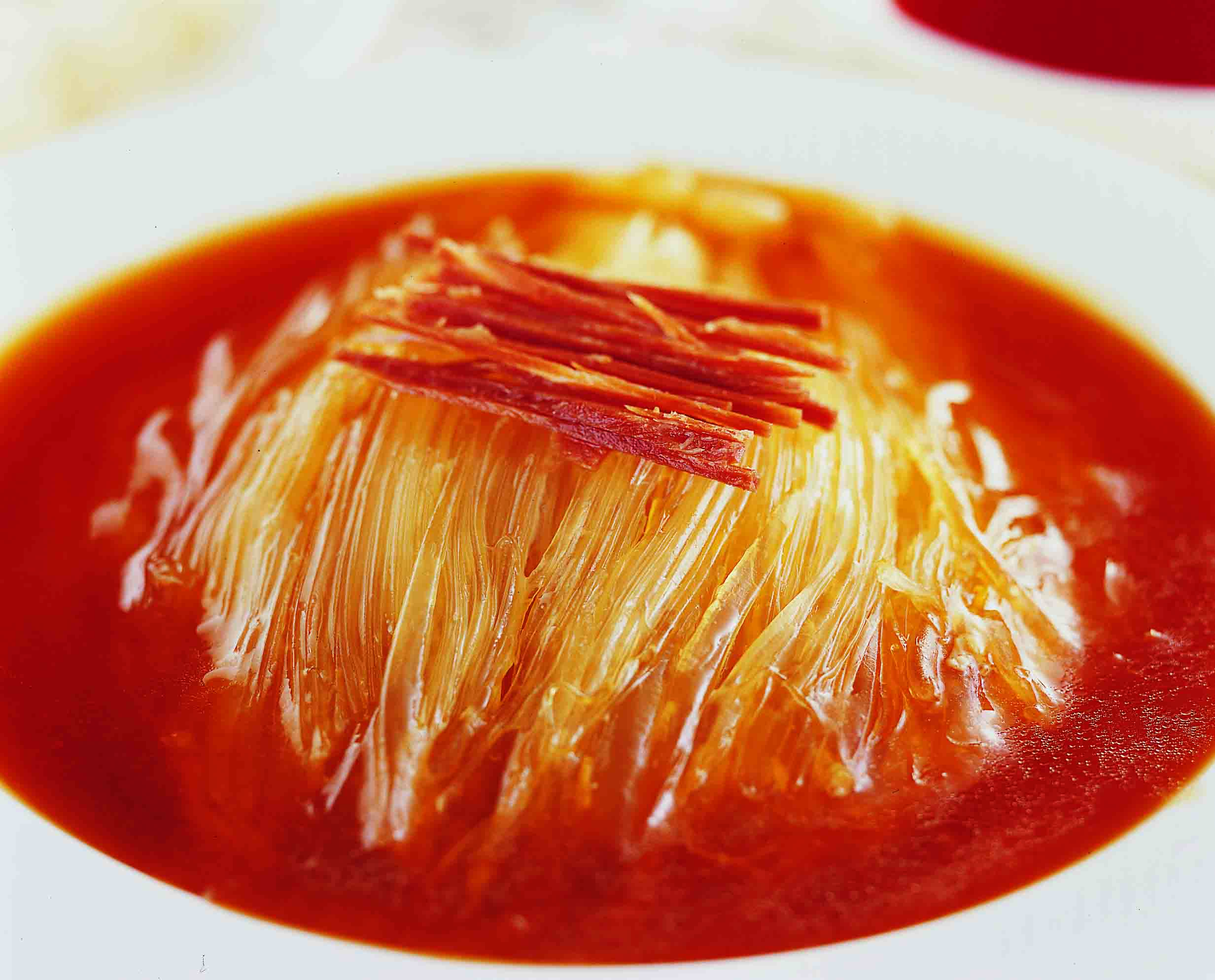 竹園海鮮飯店の潮州式フカヒレの蒸し煮
