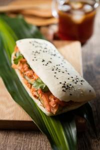 korean pork with kimchi slaw panini