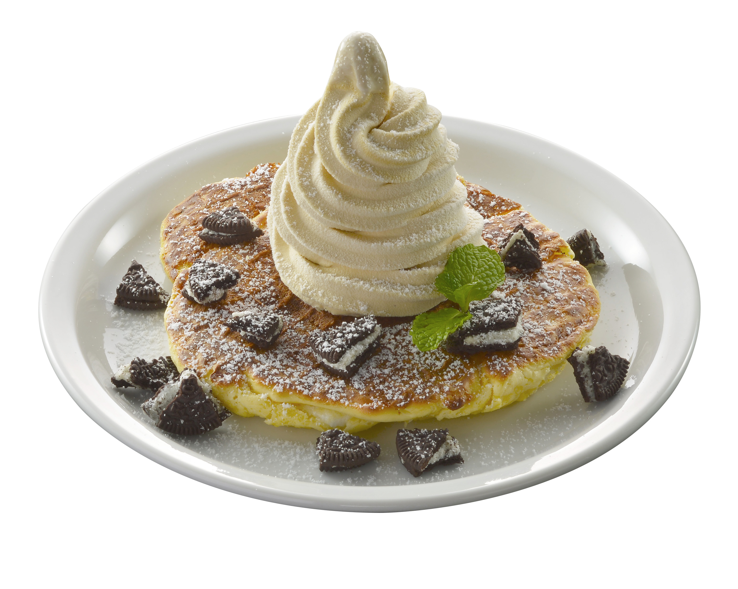 Original Waffle Pancake with Coffee Soft Ice Cream