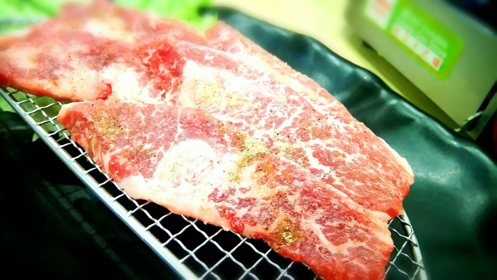 良質な牛の焼肉