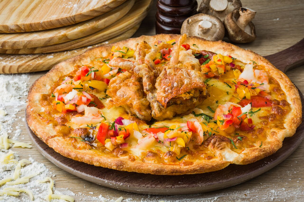 Softshell Crab Pizza