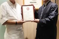 JETRO香港が主催する日本産食材サポーター第1号店に「安半」が認定