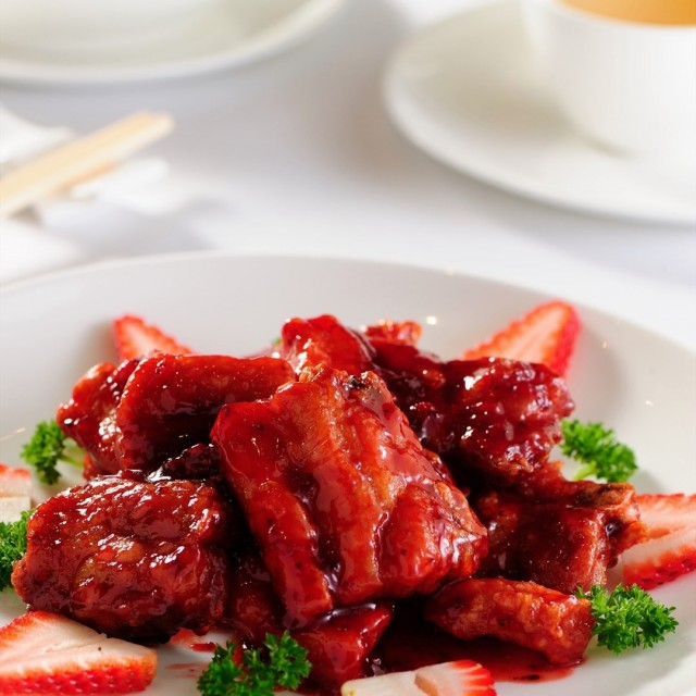 Sweet and Sour Pork with Pineapple and Strawberries 1