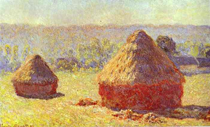 Claude_Monet._Haystack._End_of_the_Summer._Morning._1891._Oil_on_canvas._Louvre,_Paris,_France