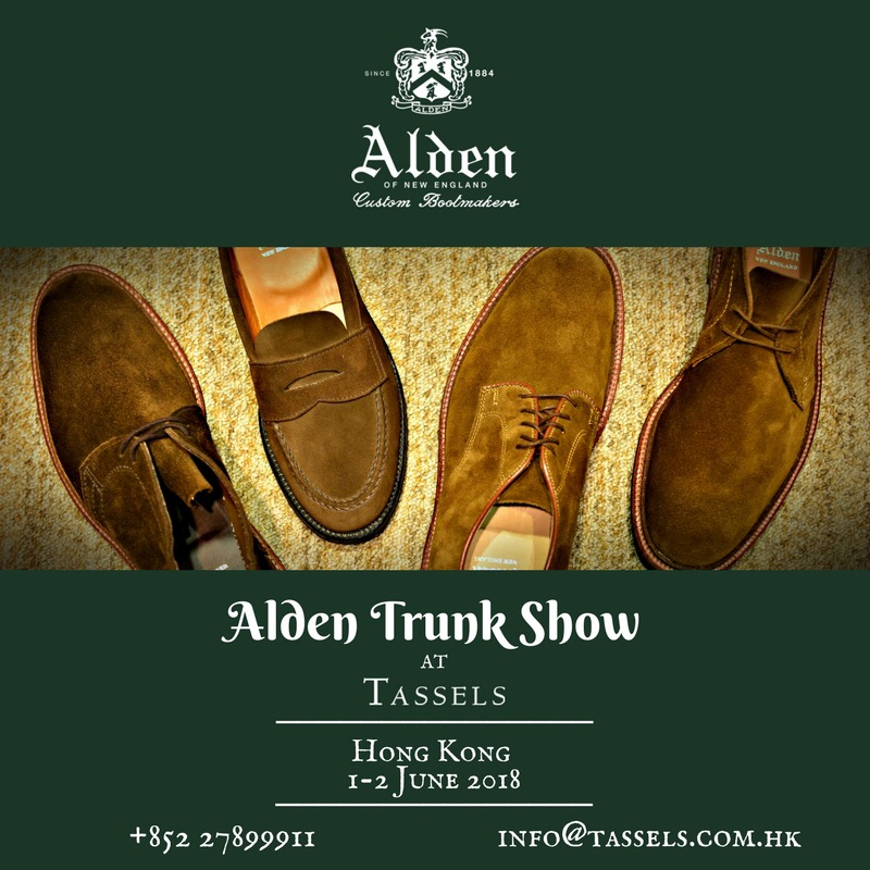 Alden Trunkshow HK 1&2JUN