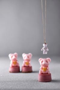 かわいらしいパンダの砂糖細工