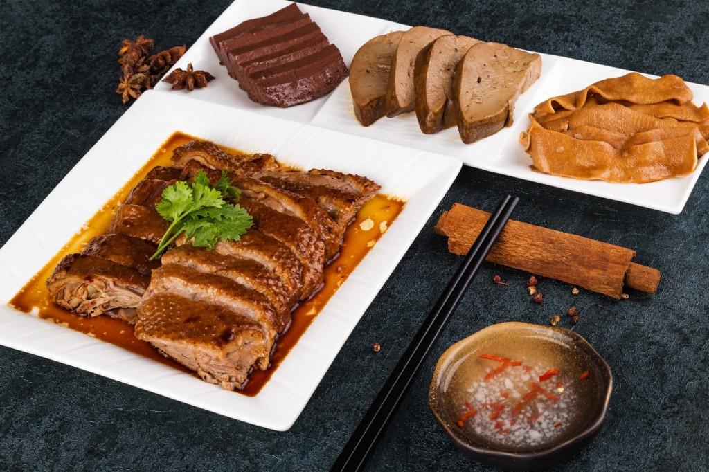 代表的な前菜の「Chao Zhou-style Marinated Goose」