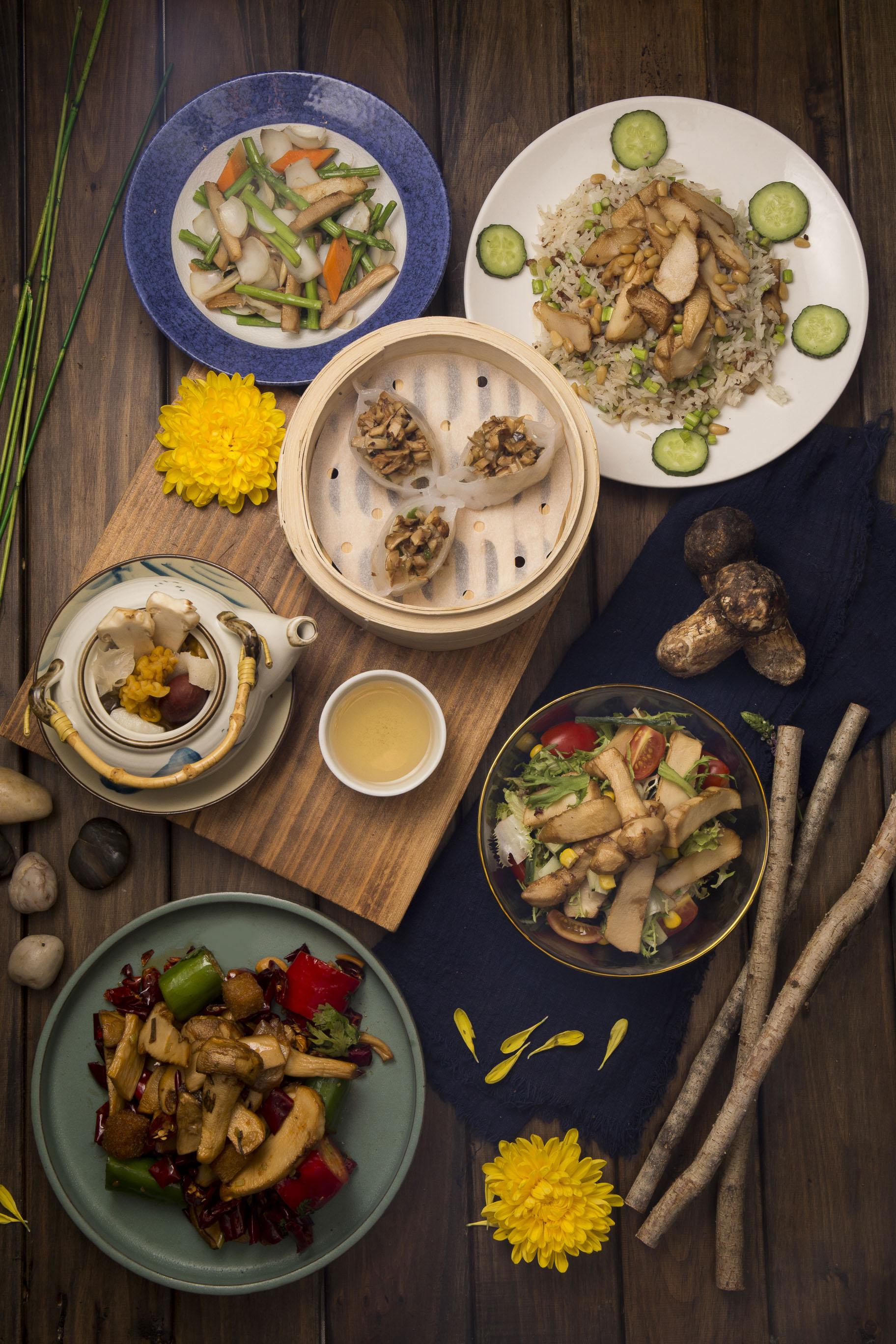 6コースの特別松茸コース料理の数々