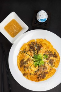 伝統的な家庭料理の 「Pan-fried Chao Zhou Oysters Pancake」