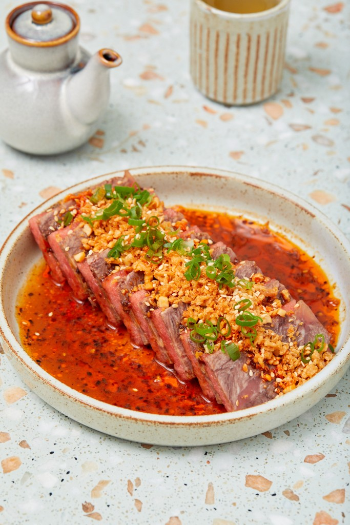 柔らかい食感が魅力の「Slow Cooked Wagyu beef Cheek」